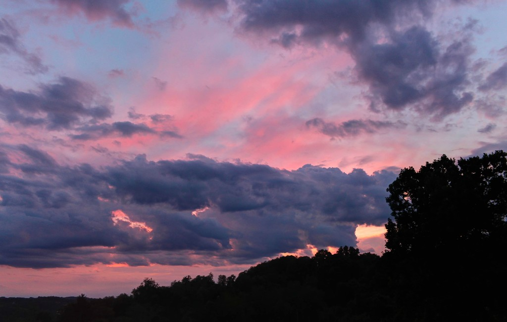 Colorful sky in July by mittens