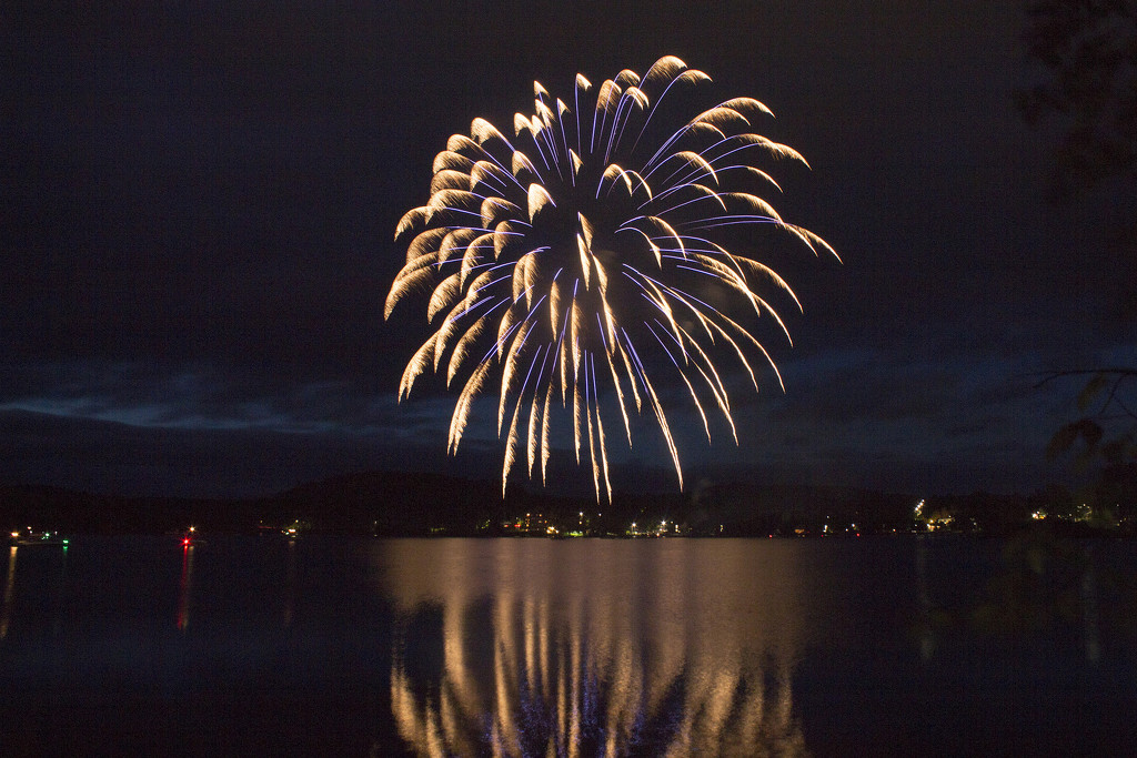 Canada Day Fireworks Over The Lake by gaylewood