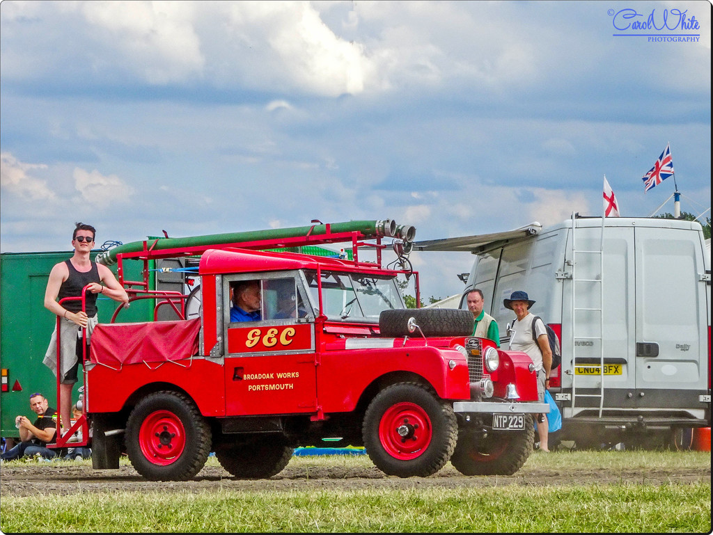 Emmanuel,Hitching A Ride On Our Landrover Fire Engine by carolmw