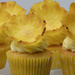 Pineapple flower cupcakes