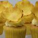 Pineapple flower cupcakes