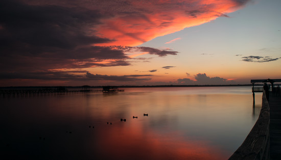 Sunset on the St John's River! by rickster549