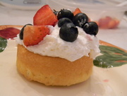 21st Jul 2017 - Angel Food Cake with Whipped Cream, Strawberries and Blueberries
