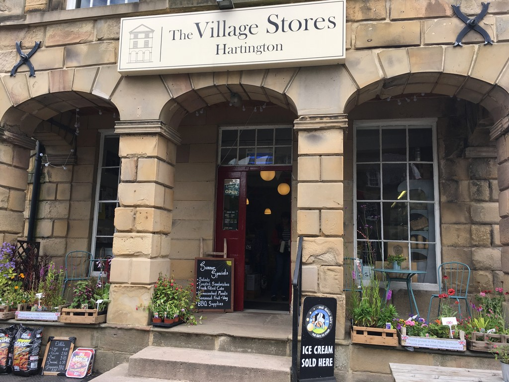 Sunday morning coffee at Hartington's very fine village store by 365projectmaxine