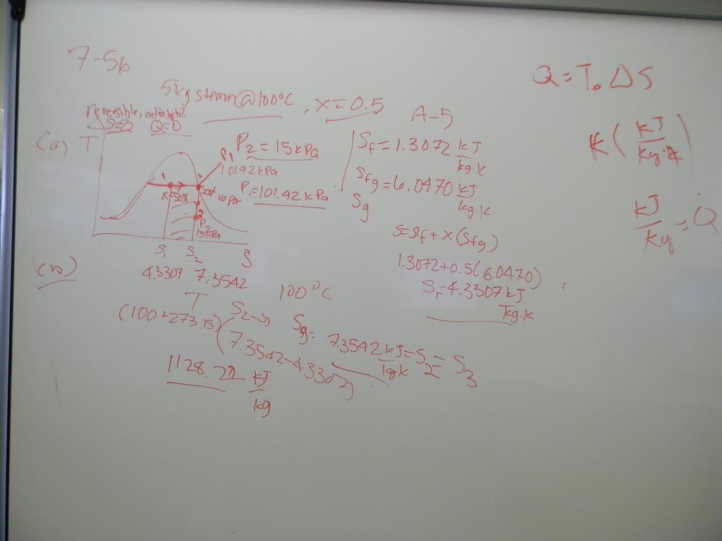 Thermodynamics Problem on Whiteboard by sfeldphotos