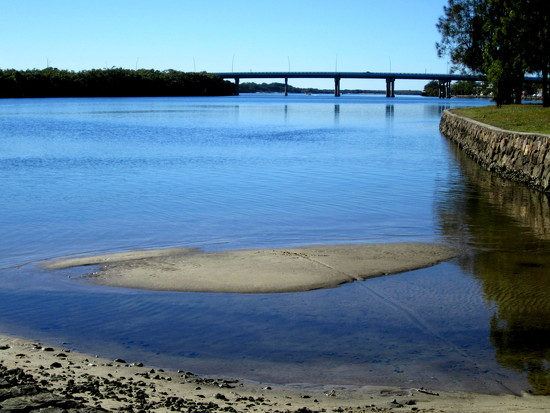Maroochy River, with the Sunshine Motor way Bridge by 777margo