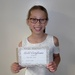 Charlotte with her Gold Certificate