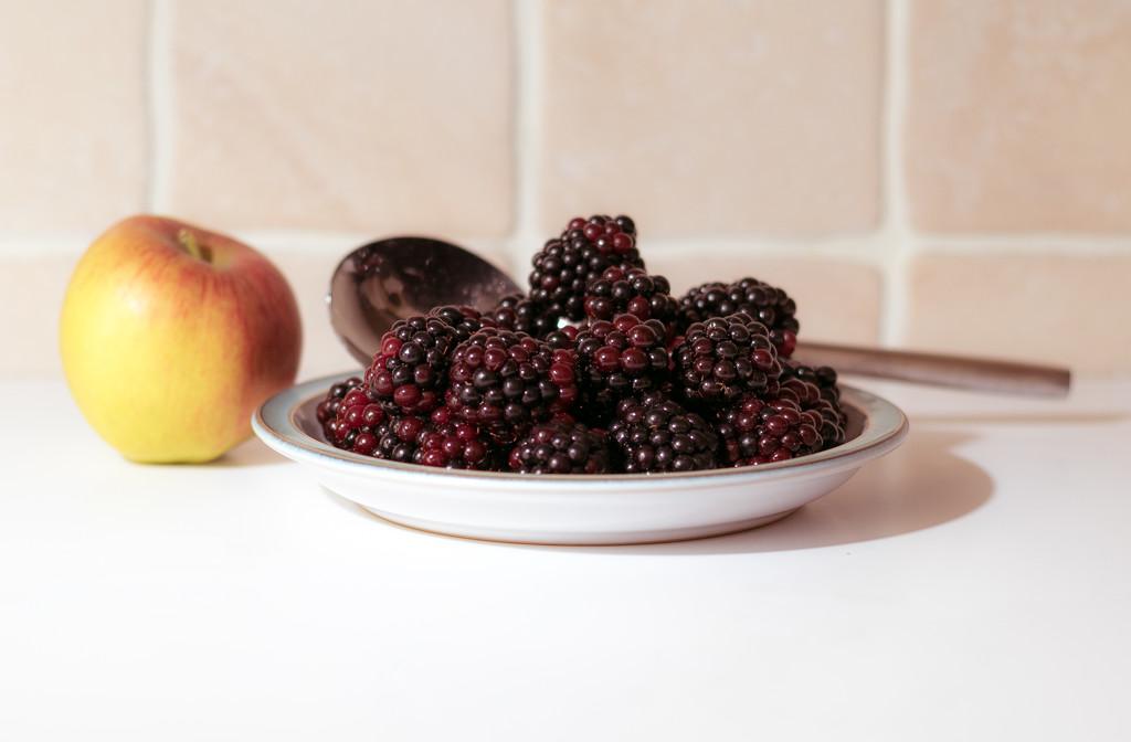 Blackberries and Apple by peadar