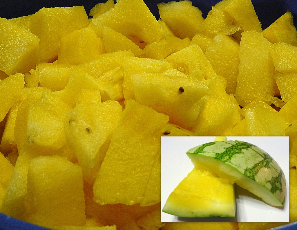 Yellow watermelon? by homeschoolmom