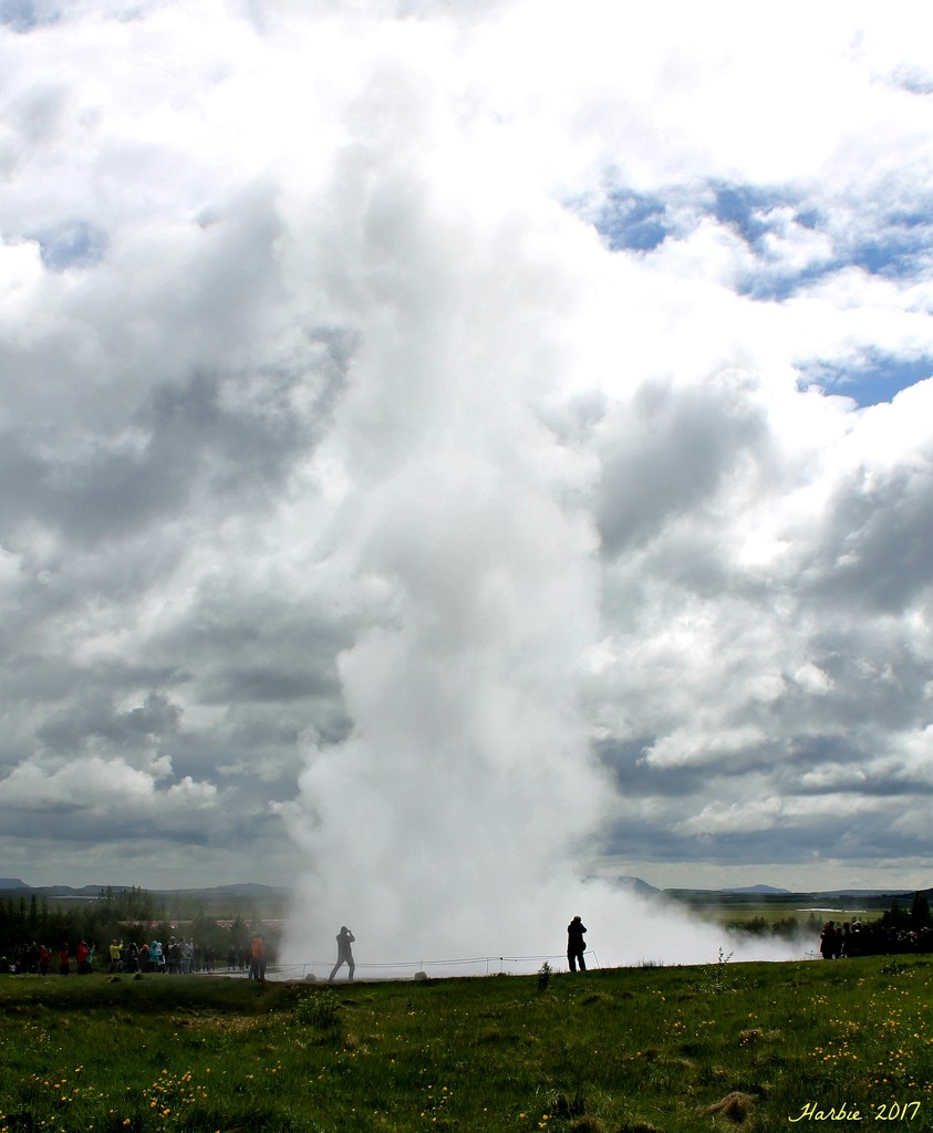 Iceland's Strokkur Geyser by harbie