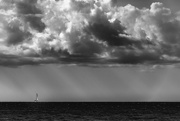 7th Aug 2017 - Alone at Sea Under the Clouds
