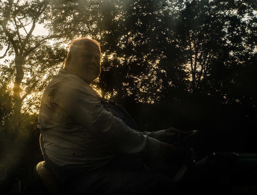 Gene on the mower by randystreat