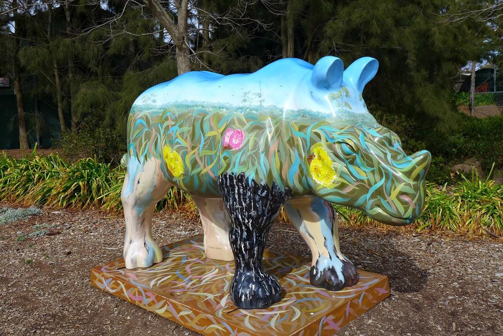 Muraled Rhinoceros  by leggzy
