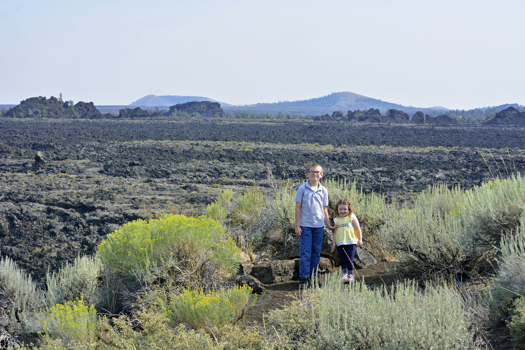 Grandkids at Craters of the Moon by debrac