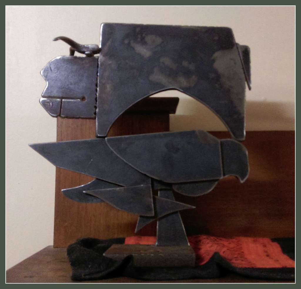 """Iron Sculpture  """"BULL""""  by Gabe by loey5150"""