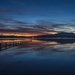 Sunset at Mortimer Bay by jyokota
