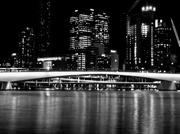 30th Aug 2017 - Brisbane by night - in B&W