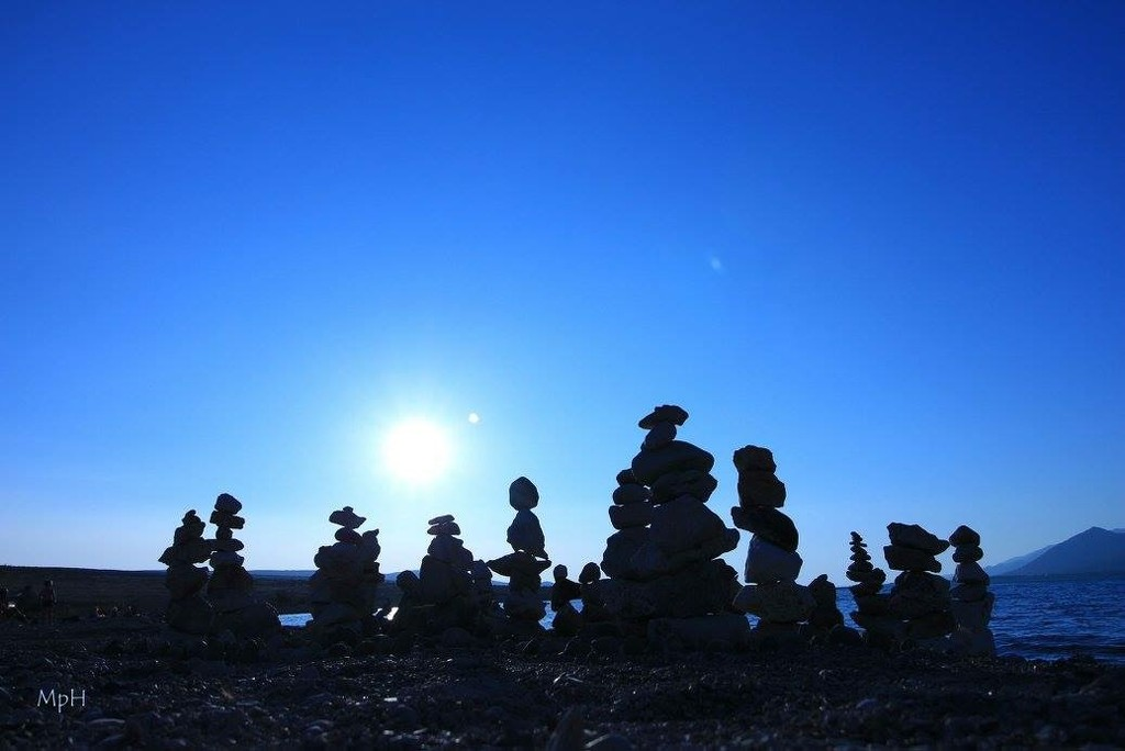 Blue stone people by cherrymartina