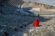 1st Sep 2017 - 241 - Lady in red at Roman amphitheatre