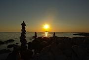 6th Jul 2017 - Zen stone towers on MAli Losinj beach at sunset