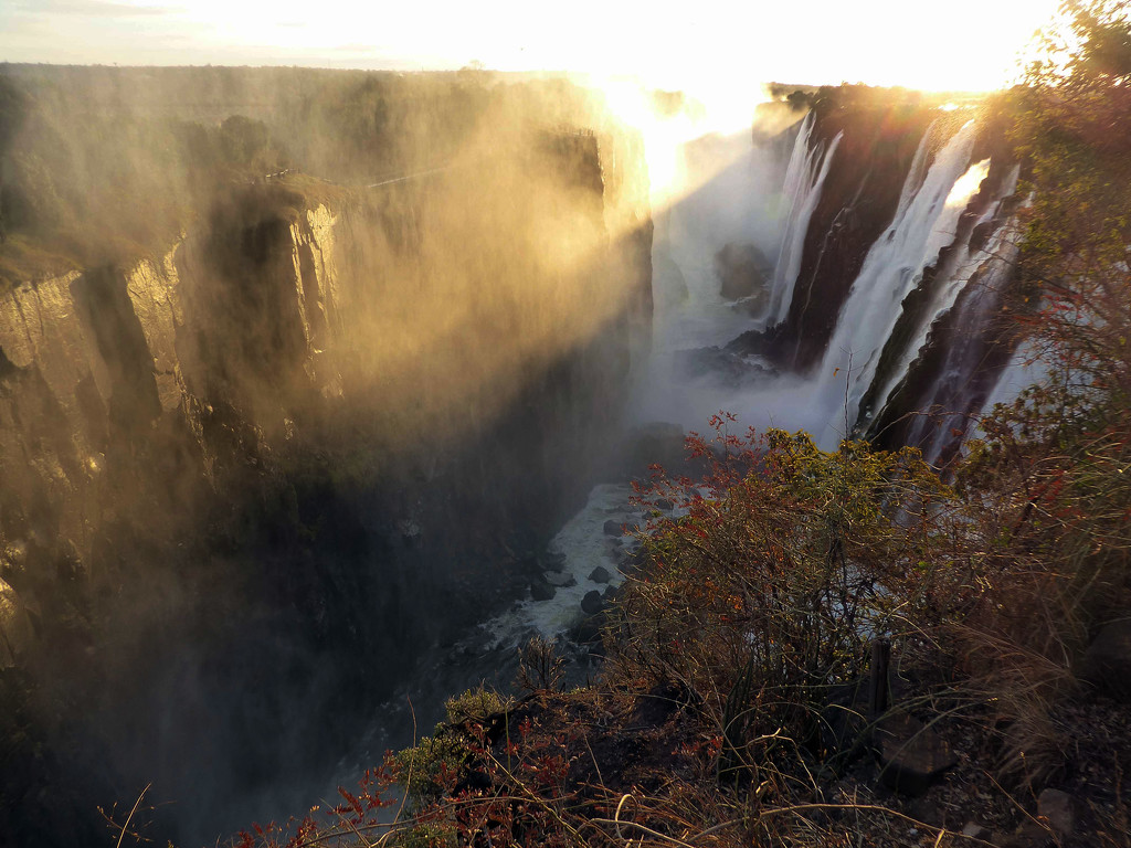Sunset at Victoria Falls by cmp