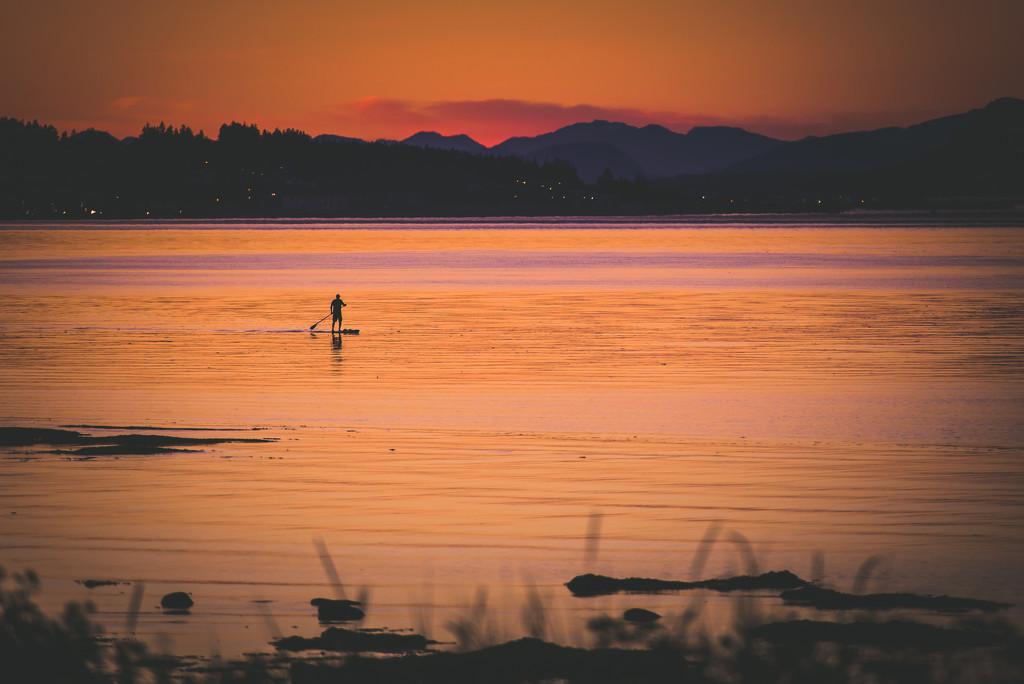 Sunset Paddler by kwind
