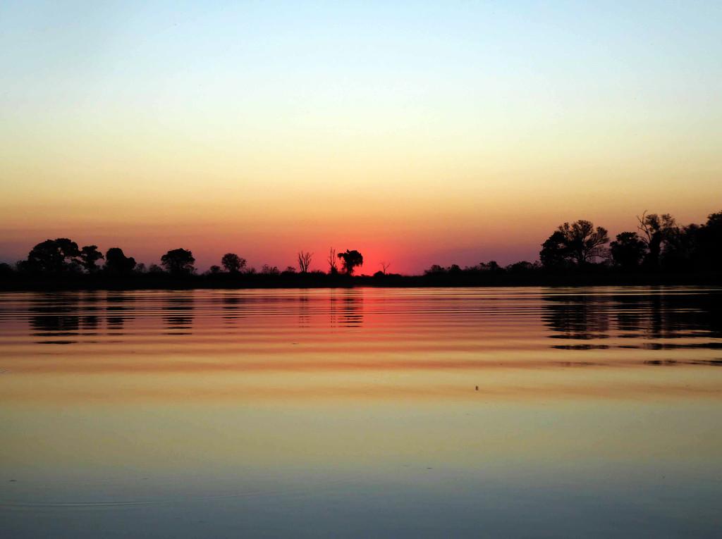 Sunset on the Okavango Delta by cmp