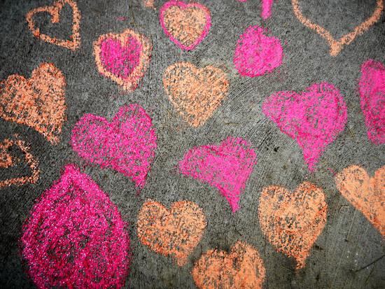 Sidewalk Hearts  by gq