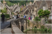11th Sep 2017 - Back to Castle Combe in the Cotswolds - my hubby and Sadie on the bridge
