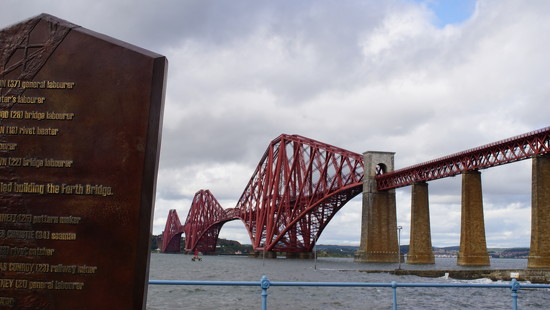 the Forth Bridge and monument by quietpurplehaze