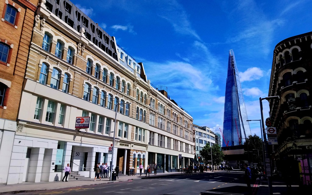 Shard view from Southwark Street by boxplayer