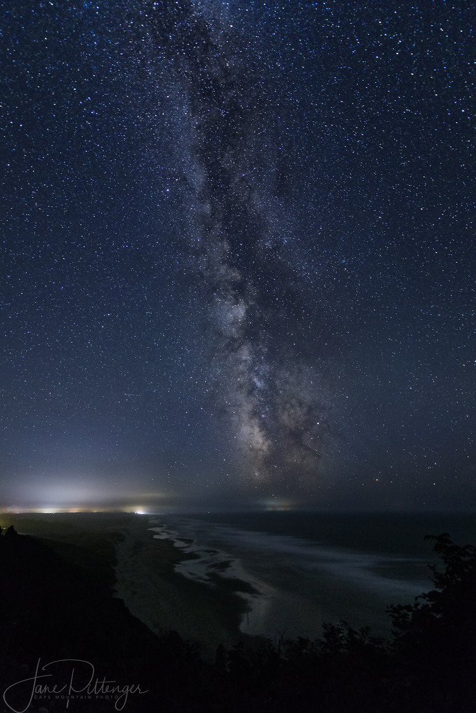 Looking South Over Baker Beach to the Milky Way by jgpittenger
