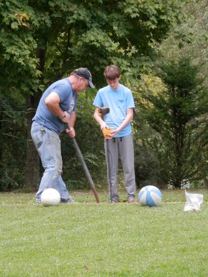 metal detecting in the yard by julie