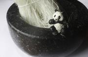 13th Sep 2017 - panda likes vermicelli, not  bamboo shoots