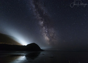 15th Sep 2017 - Car Beams Compete with Milky Way At Ocean Beach