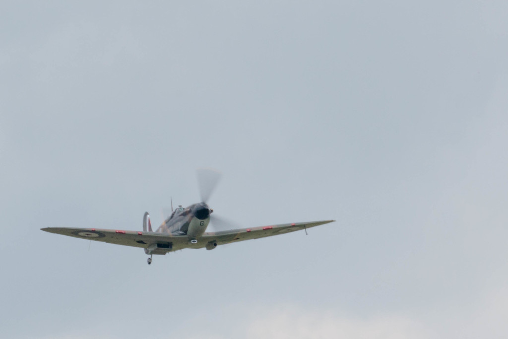 Spitfire amongst the modern technology!! by padlock