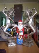 2nd Jan 2011 - Santa between two sexy ladies!
