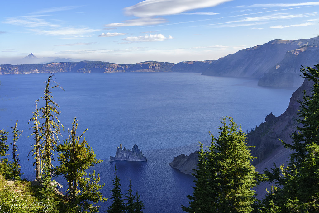 Phantom Ship At Crater Lake by jgpittenger