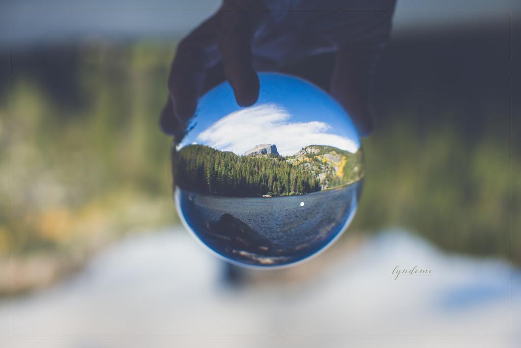 A Peek at Hallet's Peak by lyndemc