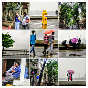 21st Sep 2017 - COLLAGE The rain plays hide & seek