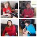 I had a wonderful surprise a visit from 4 of my Grandies Top L Oscar Top R Lelia Bottom Emma and Ryley