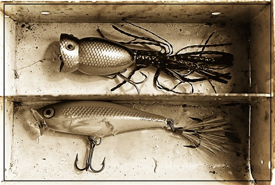 Two Fishing Lures by olivetreeann