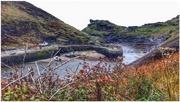 24th Sep 2017 - Boscastle, north Cornwall - the two stone harbour walls were built in 1584.