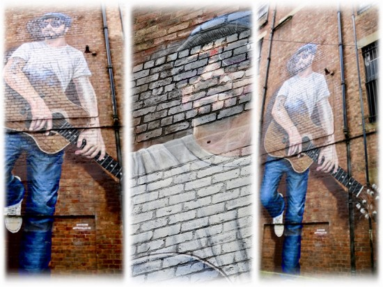 266/365 - Glasgow Street Art #23 - The Musician  by wag864