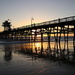 San Clemente Pier at Sunset by terryliv