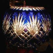 4th Oct 2017 - Cobalt rose bowl candlelight