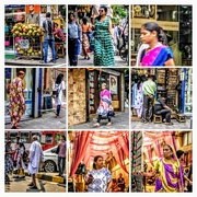 5th Oct 2017 - Collage mumbai streets at festival time