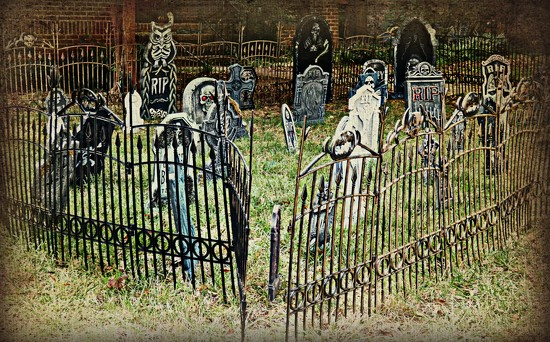 Graveyard in the 'Hood by peggysirk