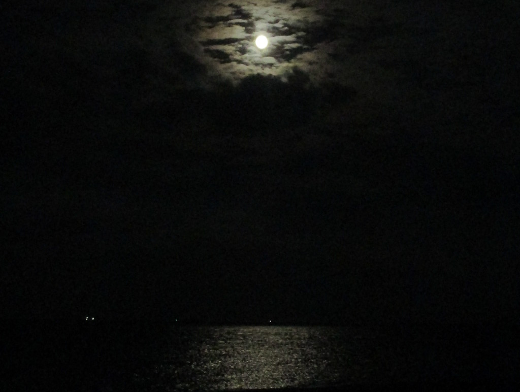 Moon on the Water in the Bay by filsie65
