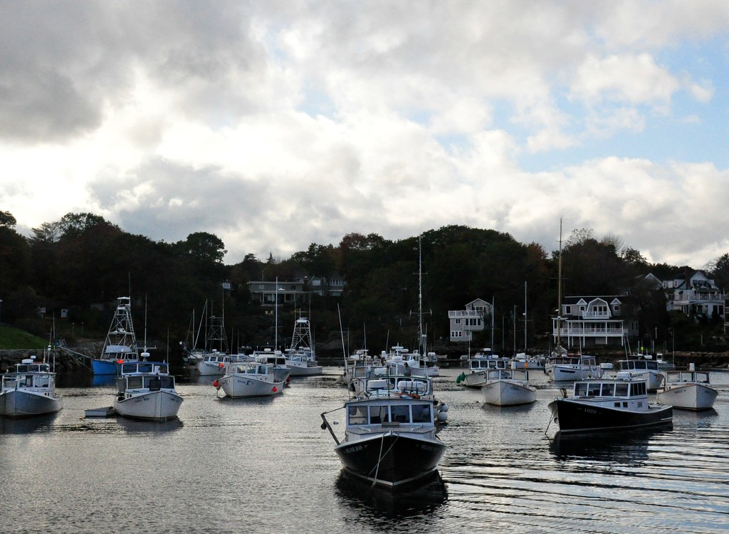 Boats in the harbor at Perkins Cove, ME. by sailingmusic